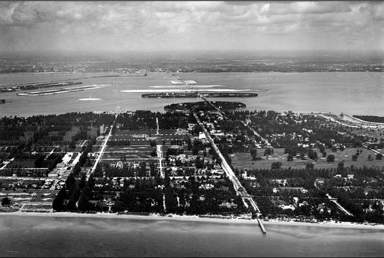 Lincoln Road In South Beach in 1924 rare photo