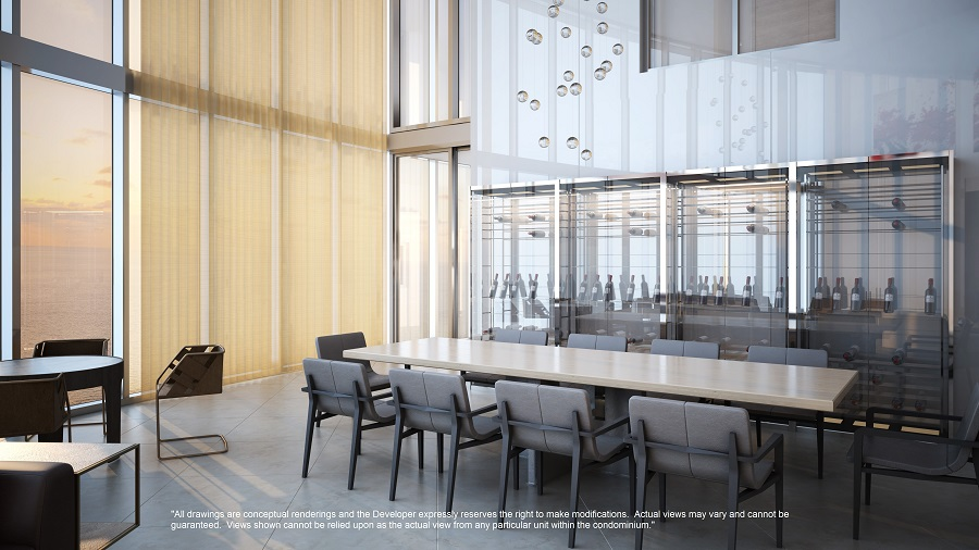 Porsche design tower penthouse dining room