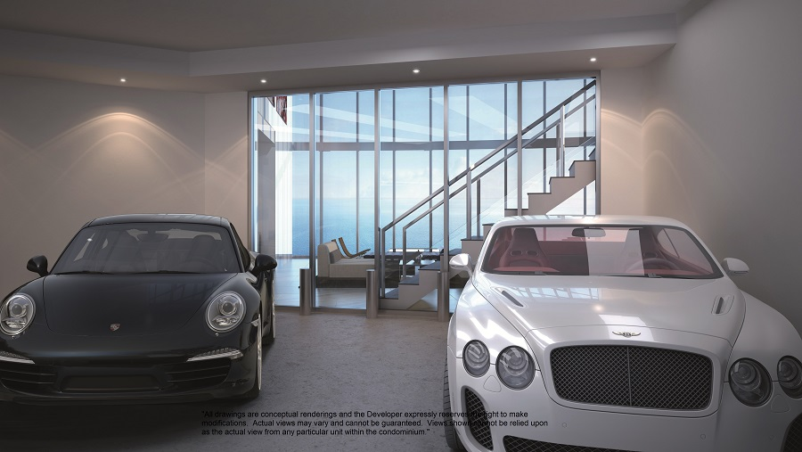 porsche design tower penthouse garage