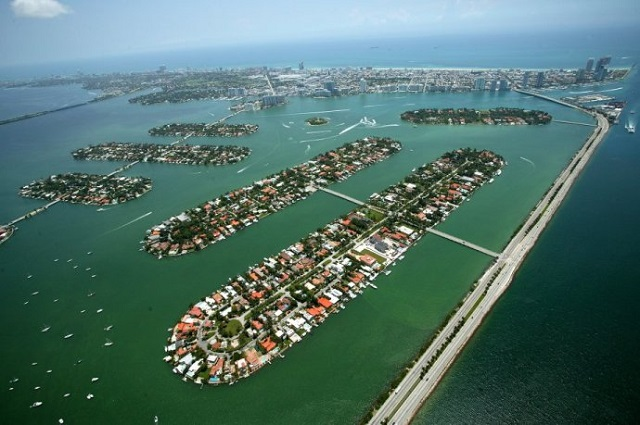 Palm Island Miami Beach Areal View