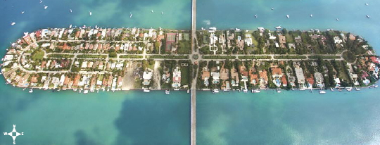 Miami Beach Real Estate - Palm Island Areal View