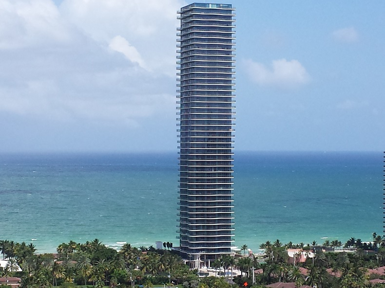 Regalia Miami Sunny Isles Beach Florida taken August 2013 building almost finished