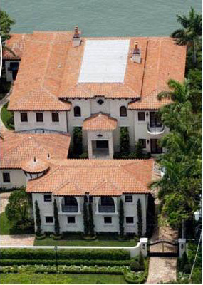 Ricky Martin's house in Miami Beach