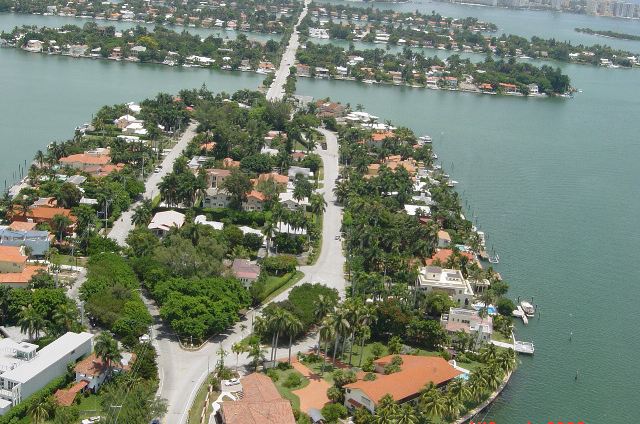 Rare Arial view of the beautiful venetian islands