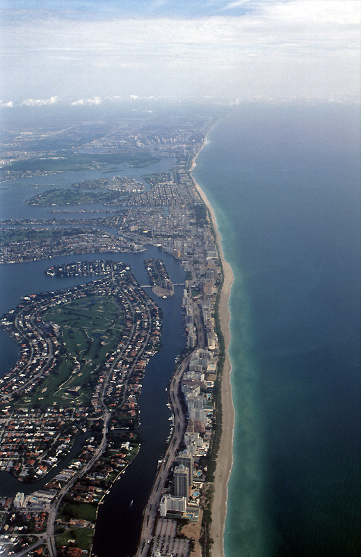 Miami Real Estate - arial view of Miami and Miami Beach